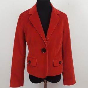 Talbots red corduroy blazer/ jacket size 6.